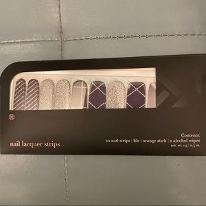 Jamberry Lacquer Strips - Purple & Silver Sparkle